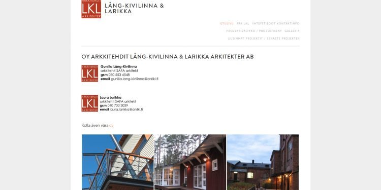 Oy Arkkitehdit Lång-Kivilinna Larikka Arkitekter Ab
